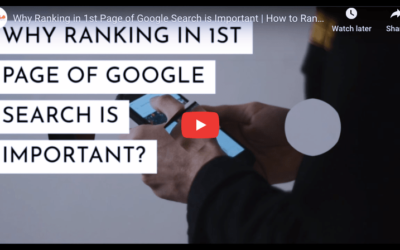 Why Ranking on the 1st Page of Google Search is Important?
